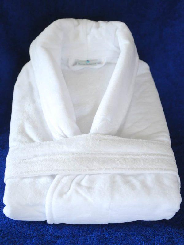 White Velour Bath Robe